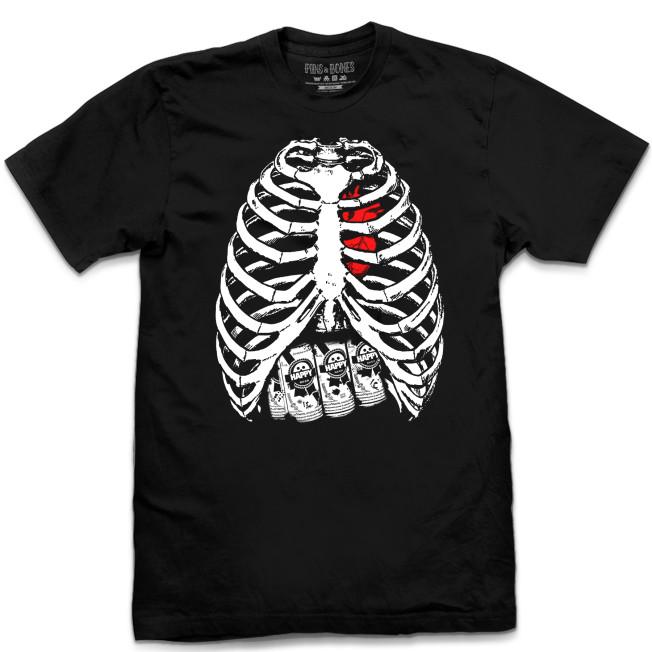Pins & Bones Skeleton Shirt, Skeleton Bones, Skeleton Ribs ...