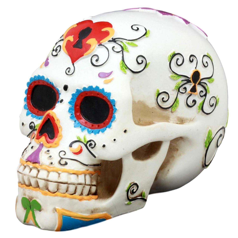 Pins Bones Sugar Skull Sculpture Dia